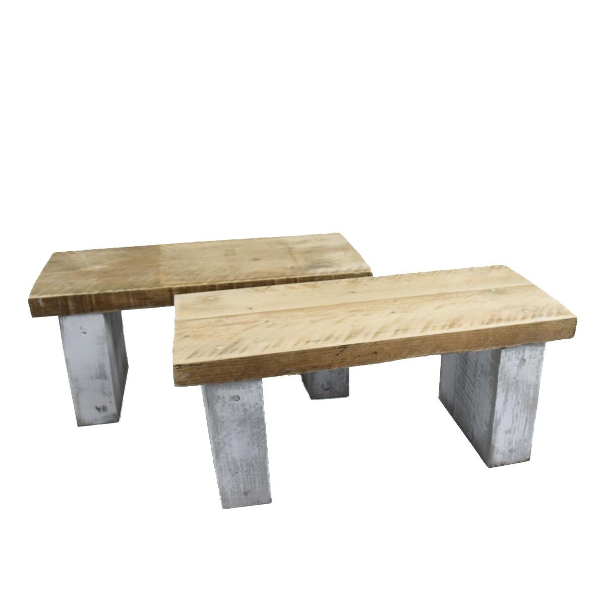 Rustic All Wood Coffee Table: Reclaimed Rustic Wood Mini Coffee Table