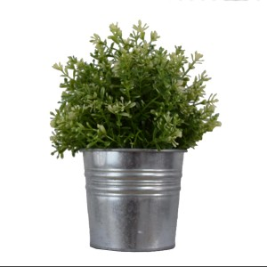 Silver-Pot-Plastic-Plant