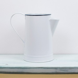 White Coffee Jug Vase