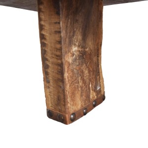 rustic industrial wood table bench
