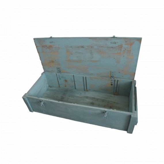 Painted Wooden Military Chest
