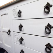 Upcycled White Wooden Topped Sideboard