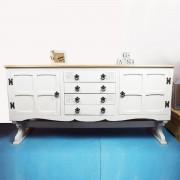 White Wooden Topped Sideboard